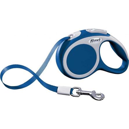 Flexi Vario Рулетка для собак до 50 кг, длина 8 м, ремень, синяя, арт. 279.596 купить в Воронеже с доставкой - цены интернет-магазина ЛеМуррр